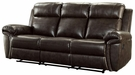 Bonded Leather Reclining Motion Sofa