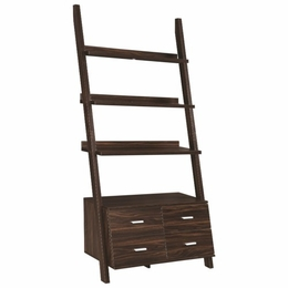 Dark Walnut Ladder Bookcase