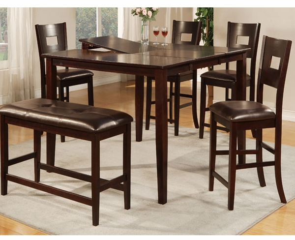 Brooke 6-Pc Counter Height Dining Set