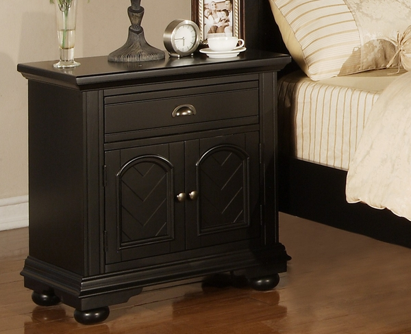 Brookpine Black Nightstand