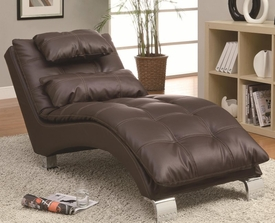 Brown Accent Chaise with Sophisticated Modern Look