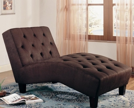 Brown Accent Microfiber Chaise