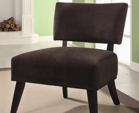 Brown Accent Upholstered Side Chair