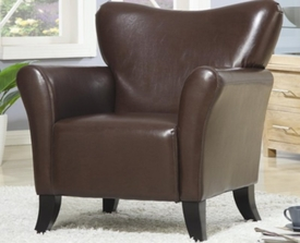 Brown Accent Vinyl Upholstered Chair