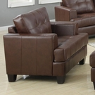 Brown Bonded Leather Upholstered Chair