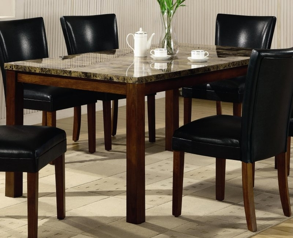Faux Marble Top Dining Table # 120310