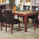 Real Marble Top Dining Table # 120311