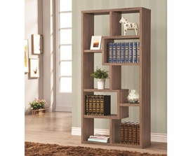 Brown Finish Multiple Cubed Rectangular Bookshelf