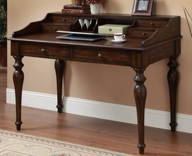 Brown Finish Writing Desk with 6 Drawers