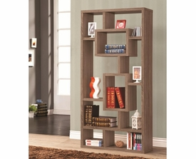 Brown Geometric Cubed Rectangular Bookshelf