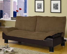 Brown Microfiber Convertible Sofa Bed