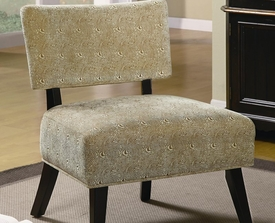 Brown Swirl Accent Upholstered Side Chair