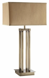Brushed Champagne Chrome Finished Base Table Lamp