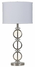 Brushed Silver Finish base Table Lamp