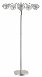 Brushed Steel Gooseneck Floor Lamp