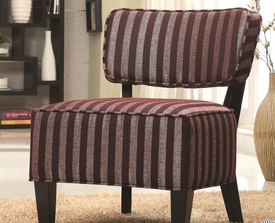 Burgundy Accent Chair with Wood Legs