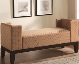 Burnt Orange U-Shaped Accent Bench