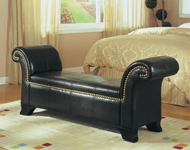 Bycast Bench w/Nailhead Trim
