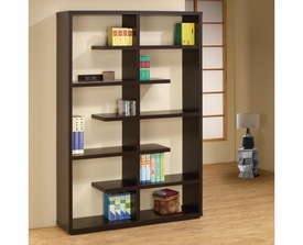 Cappuccino Small and Large Compartments Bookshelf