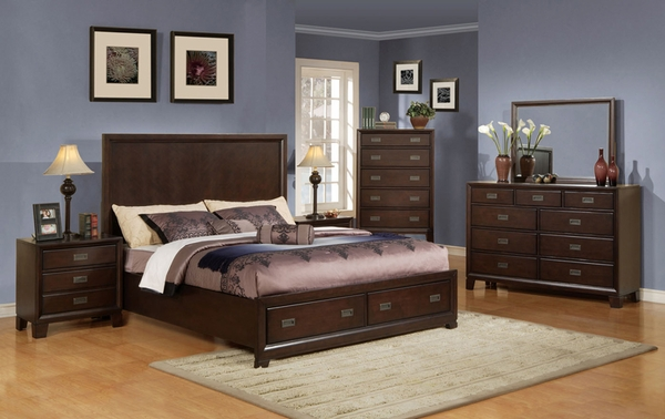 home bed room master bedroom sets cappuccino finish 5 pc bedroom set