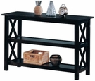 Cappuccino Finish Briarcliff Sofa Table with 2 Shelves
