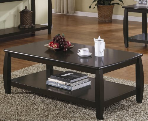 Cappuccino Finish Coffee Table with 1 Shelf