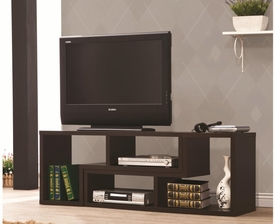 Cappuccino Finish Convertible TV Console and Bookcase Combination