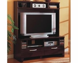 Cappuccino Finish Entertainment Wall Unit