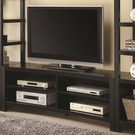 Cappuccino Finish Inverted Curved Front TV Console