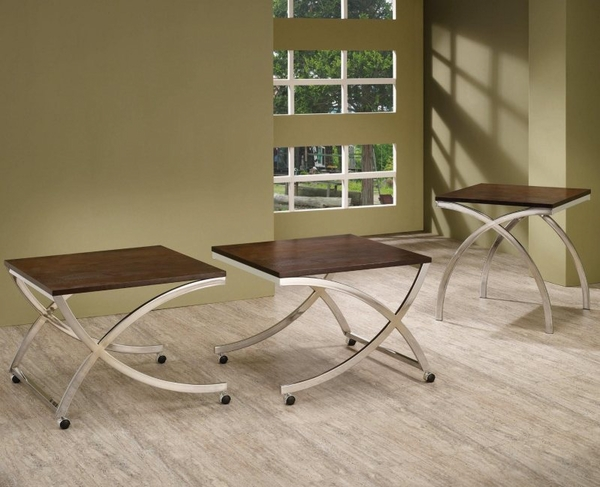 Cappuccino Finish Occasional Collection 3-pc Set