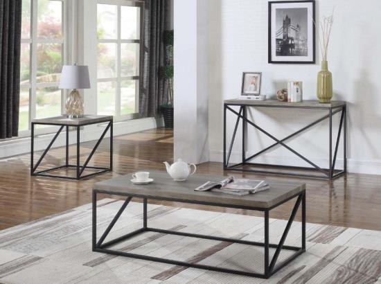Sonoma Grey 3-pc Coffee Table Set