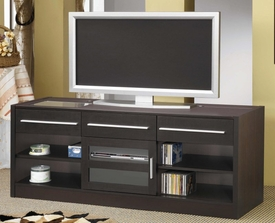 Cappuccino Finish TV Console with CONNECT-IT Power Drawer