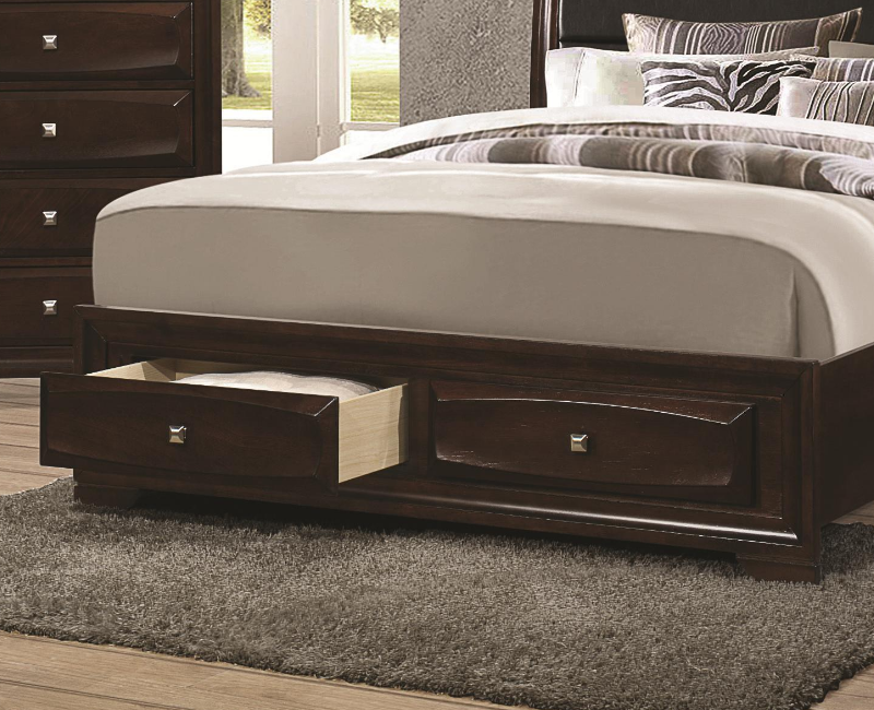 Cuccino Queen Bed With Padded Headboard