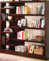 Cappuccino Semi-Backless Asymmetrical Bookcase