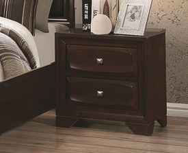 Cappuiccino Finish Nightstand w/ 2 Drawers