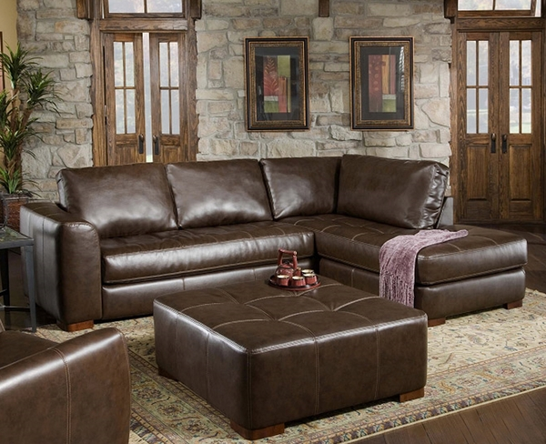 Modern Brown Leather Sectional by Albany Furniture BLOWOUT SALE! DISC.