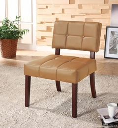 Caramel Finish PVC Leather Chair