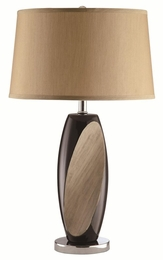 Carved Wood Design Base Table Lamp