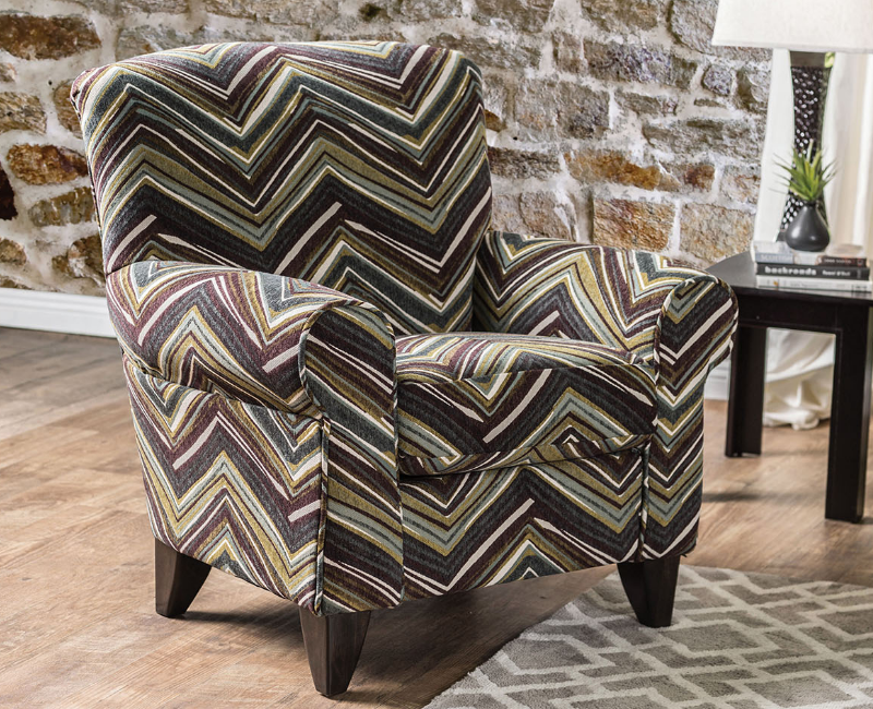 Awesome Cashel Chevron Pattern Accent Chair By Furniture Of America Ocoug Best Dining Table And Chair Ideas Images Ocougorg