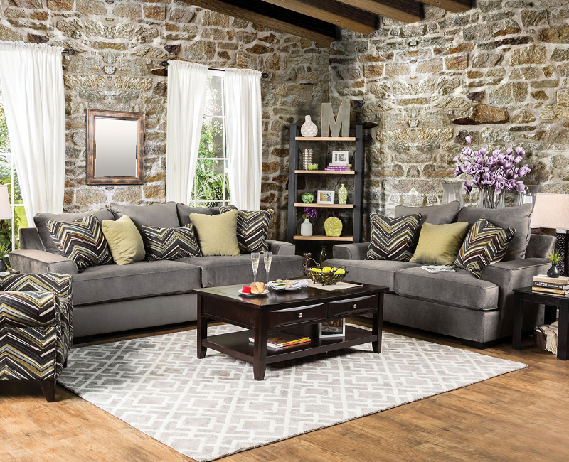 Cashel collection 2 pc set by furniture of america for Furniture of america dallas texas