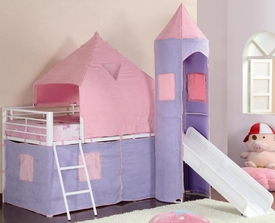 Castle Styled Metal Twin Loft Bed