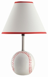 Ceramic Base Baseball Table Lamp