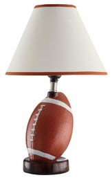 Ceramic Base Football Table Lamp