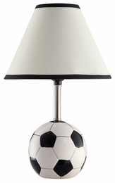 Ceramic Base Soccer Table Lamp
