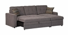 Gus Charcoal Chenille Sectional Sleeper