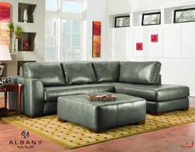 Modern Grey Leather Sectional by Albany Furniture BLOWOUT SALE! DISC.