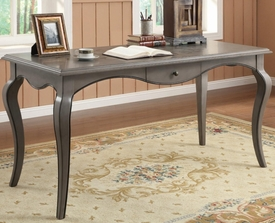 Charcoal Grey Finish Writing Desk with Cabriole Legs