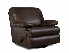 Charleston Walnut Swivel Glider Recliner