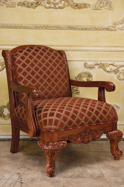 Chenille Fabric Chair