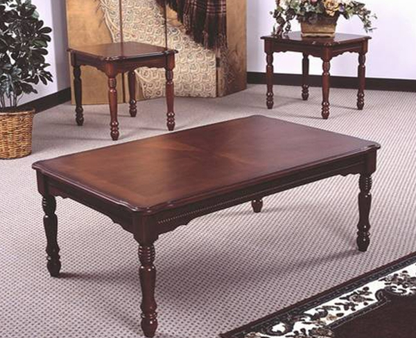 Cherry 3-Pc Coffee Table Set